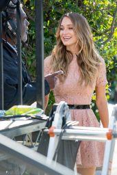 Hannah Davis - at the Set of