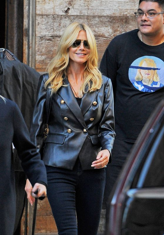 Heidi Klum - Leaves Her Boyfriends House in West Village, October 2015