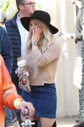 Hillary Duff Enjoys Some Holiday Fun at The Grove in Hollywood, November 2015