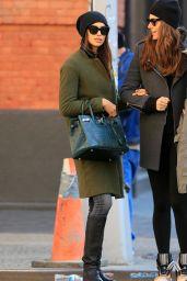 Irina Shayk Autumn Style - Soho, NYC, November 2015