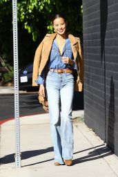 Jamie Chung in Jeans - Out in West Hollywood, November 2015