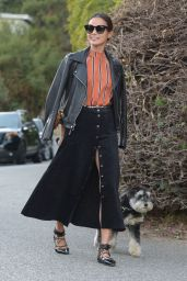 Jamie Chung - Walking Her Dog in Los Angeles, November 2015