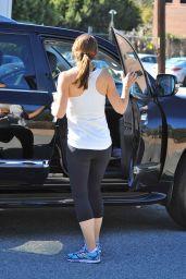 Jennifer Garner - Leaving a Gym in Los Angeles, November 2015
