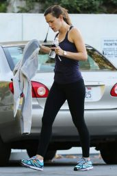 Jennifer Garner - Leaving the Gym in Los Angeles, November 2015