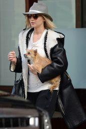 Jennifer Lawrence - With Her Dog Pippi in Tribeca, 11/29/2015