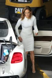 Jennifer Lopez Booty in White Dress - Arriving at American Idol Final Season in Los Angeles, 11/20/2015