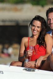 Jennifer Metcalfe in a Swimsuit on a Boat Spain, November 2015