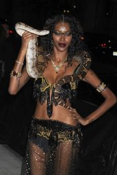 Jessica White – Arriving the Heidi Klum's 12th Annual Halloween Party at Penthous in New York City