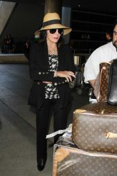 Joan Collins at LAX Airport, November 2015