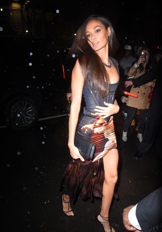 Joan Smalls – Arrives at Tao for Victoria's Secret Fashion Show After Party in NYC