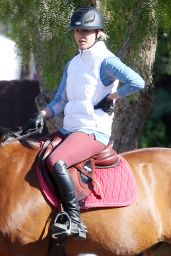 Kaley Cuoco at the Flintridge Riding Club in Los Angeles, November 2015