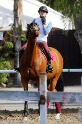 Kaley Cuoco at the Flintridge Riding Club in Los Angeles, November 2015