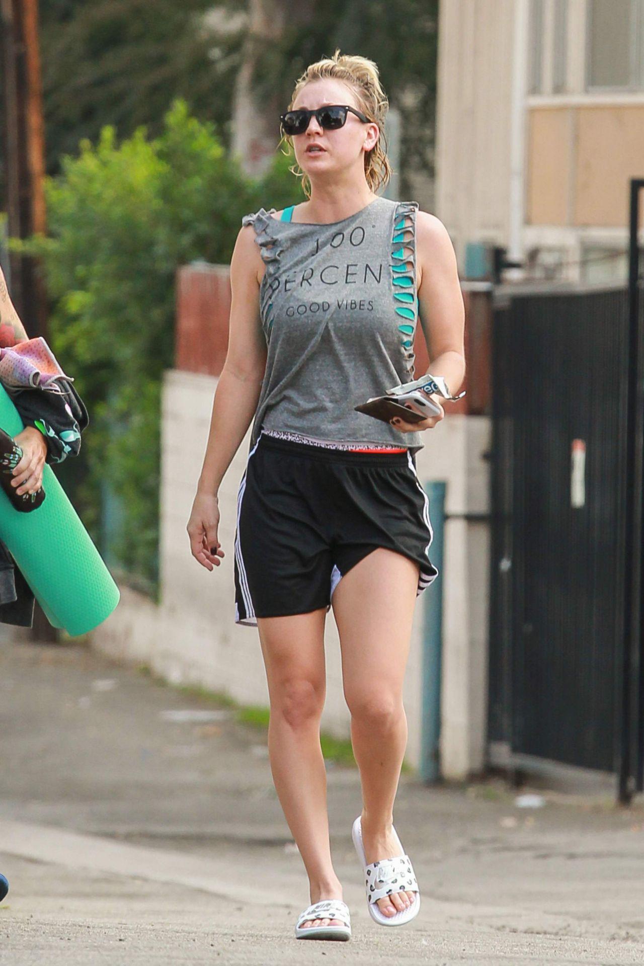 Kaley Cuoco – Leaving a Gym in Los Angeles, November 2015