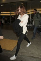 Karen Gillan - LAX Airport in Los Angeles, November 2015