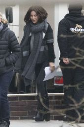 Kate Beckinsale - On the set of