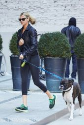Kate Upton - Walking Her Dog in NYC, October 2015