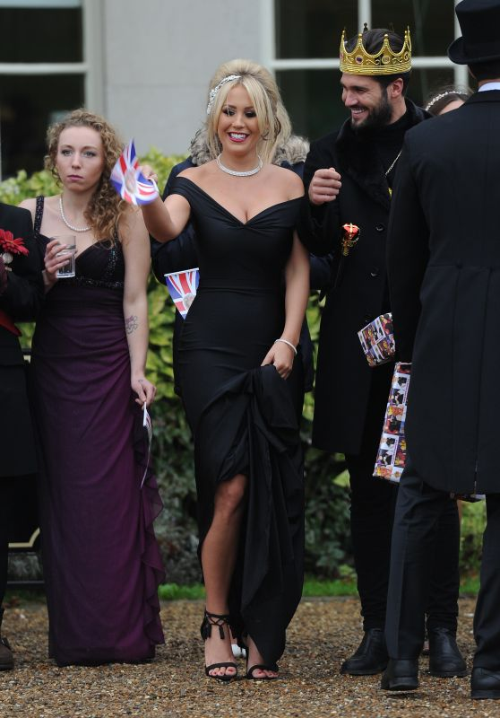 Kate Wright – Towie Cast Film Nanny Pats Royal 80th Birthday Party, Croydon in London