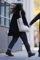 Keira Knightley Street Style - Leaves Her TriBeCa Apartment, 11/25/2015