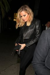 Khloe Kardashian Night Out Style - at The Nice Guy in West Hollywood, November 2015