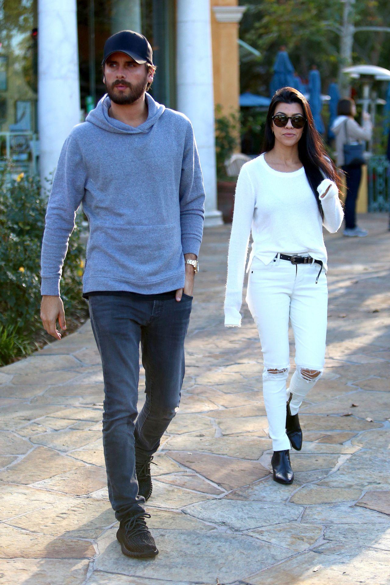 Kourtney Kardashian and Scott Disick- Out in Los Angeles, November 2015