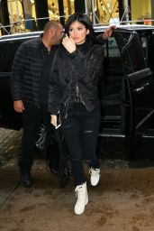 Kylie Jenner in All Black Ensemble -  Shopping at Vfiles With Boyfriend Tyga in SoHo