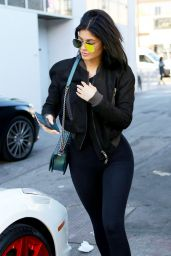 Kylie Jenner in Tights - Out in Beverly Hills, November 2015