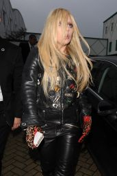 Lady Gaga in Leather Outfit - Arrives at a Recording Studio in North London, November 2015