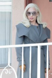 Lady Gaga - on Set for American Horror Story in Los Angeles - November 2015