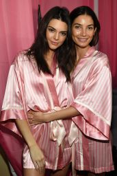 Lily Aldridge – 2015 Victoria's Secret Fashion Show in New York City, Dressing Room