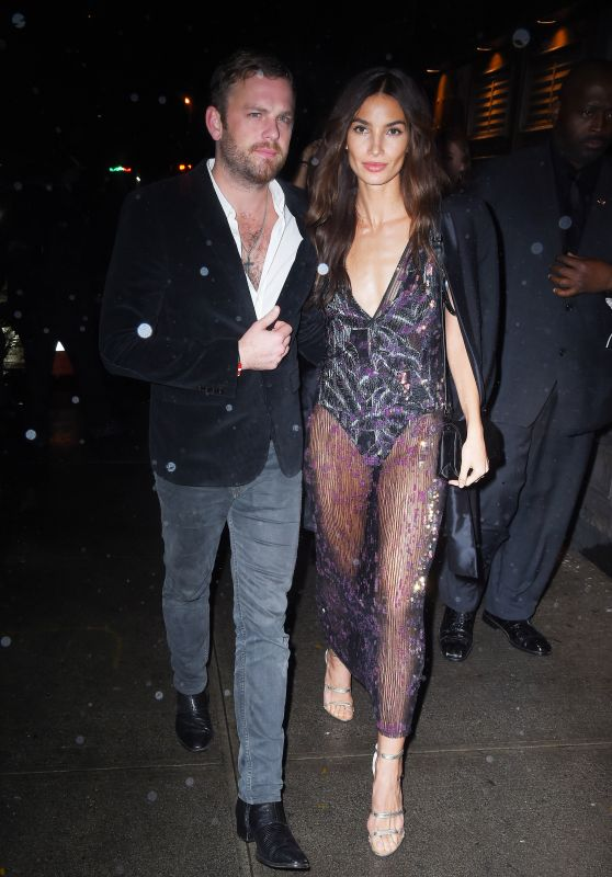 Lily Aldridge – Arrives at Tao for Victoria's Secret Fashion Show After Party in NYC