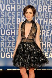 Lily Collins - 2016 Breakthrough Prize Ceremony in Mountain View