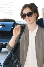 Lily Collins at LAX Airport, November 2015