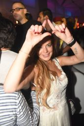 Lindsay Lohan at a Club in Dubai, 11/28/2015