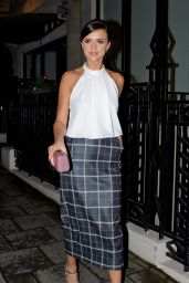 Lucy Mecklenburgh Style - at Quaglinos Restaurant in London, November 2015