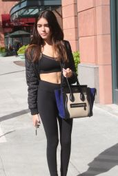 Madison Beer in Tights - Out in Beverly Hills, November 2015