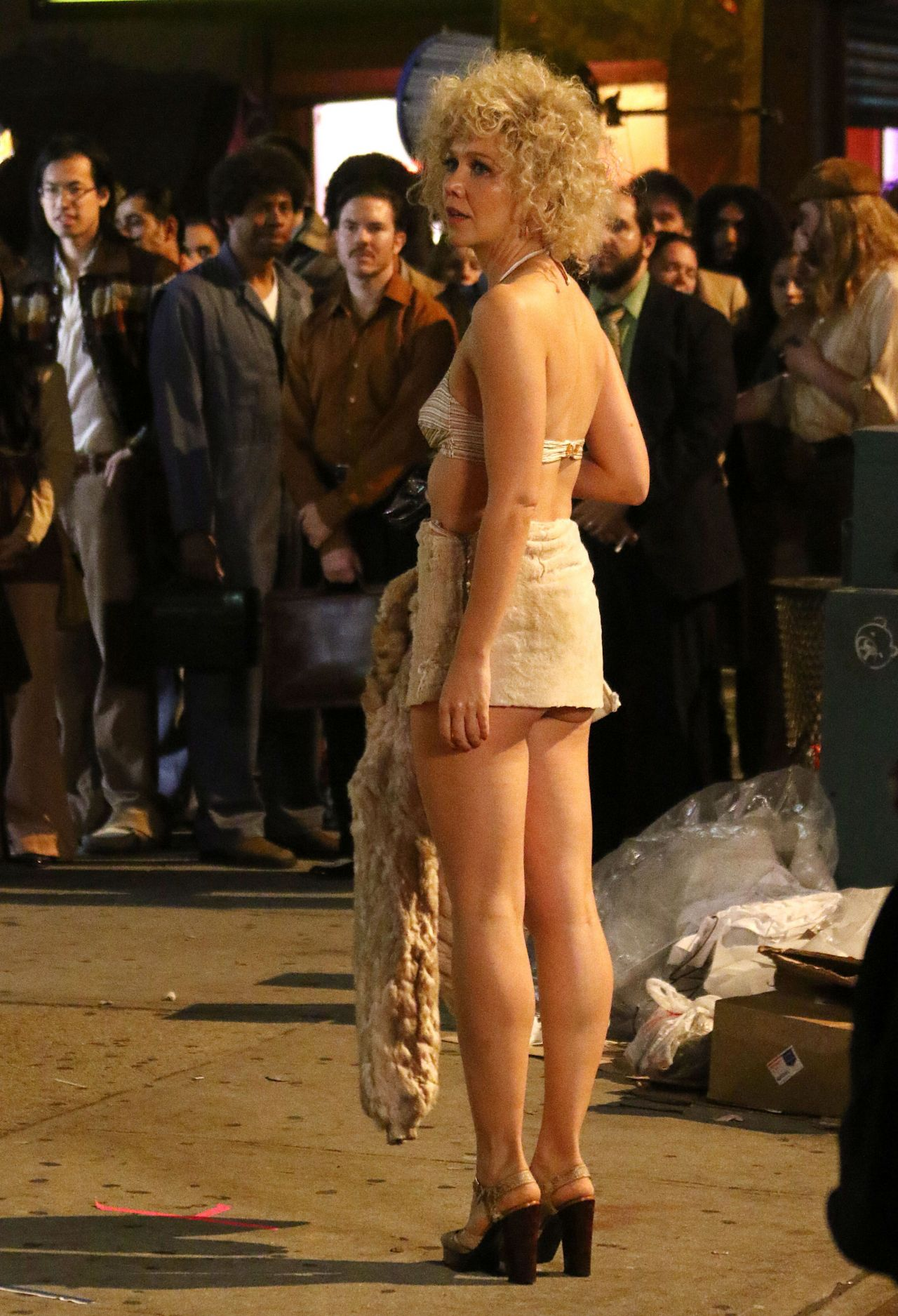 Maggie Gyllenhaal On The Set Of The Deuce In New York