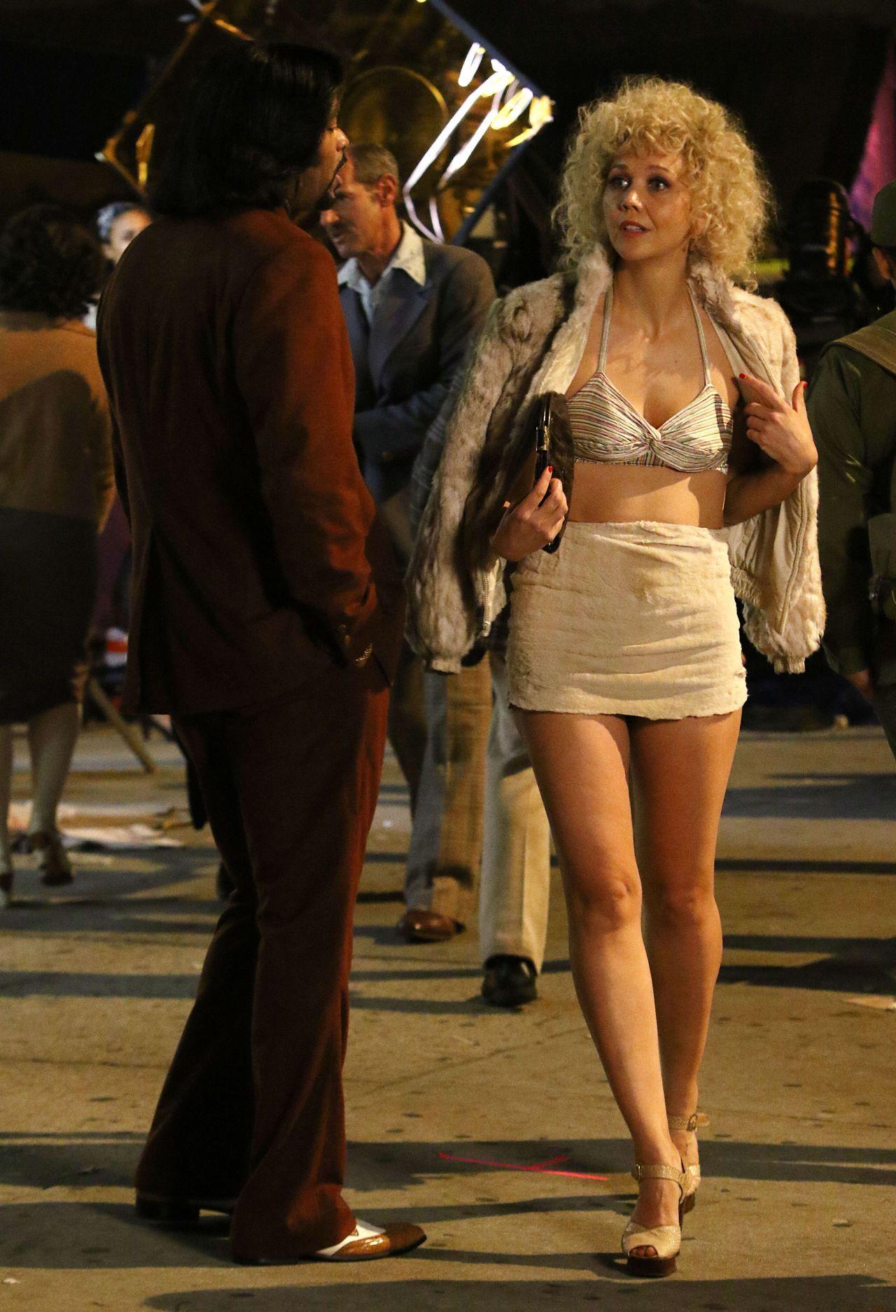 Maggie Gyllenhaal On The Set Of The Deuce In New York