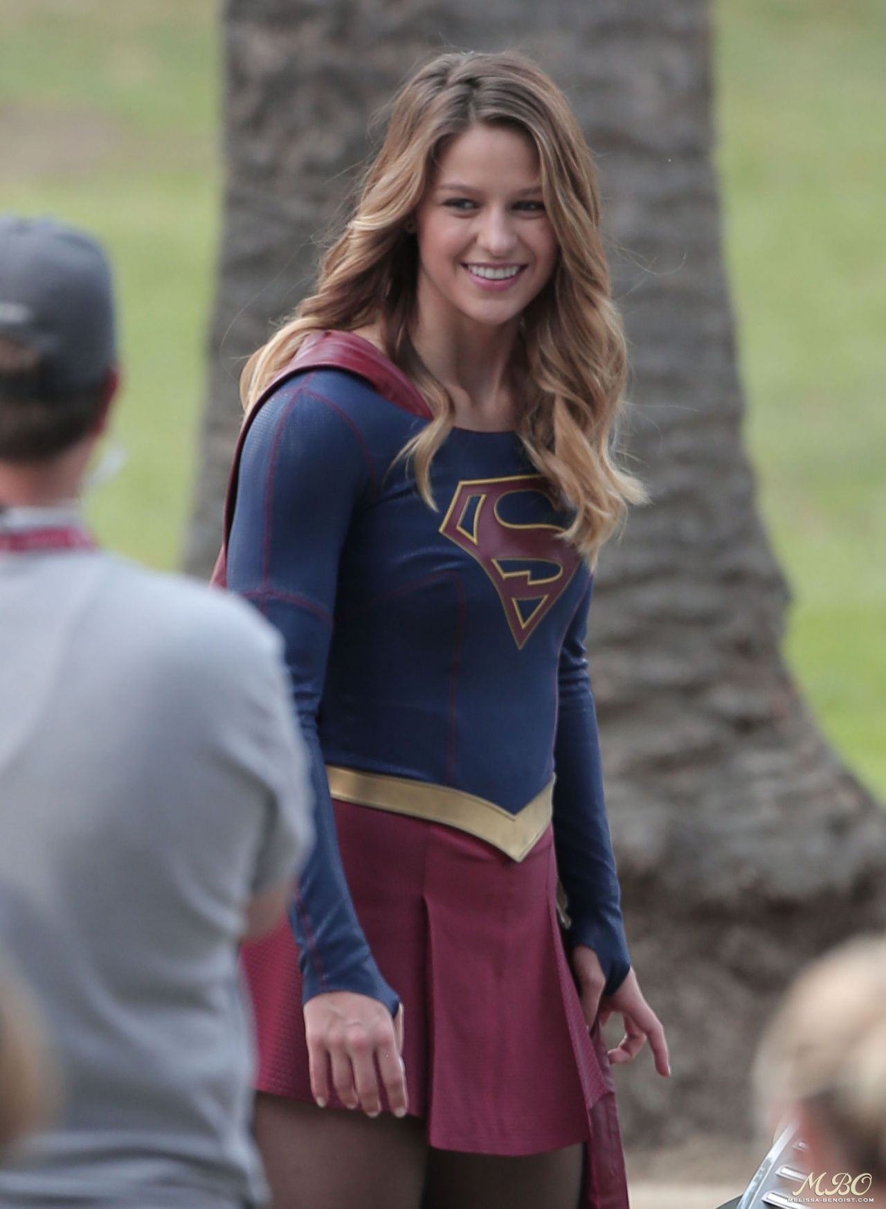 Melissa Benoist On The Set Of Supergirl In Los Angeles October 2015