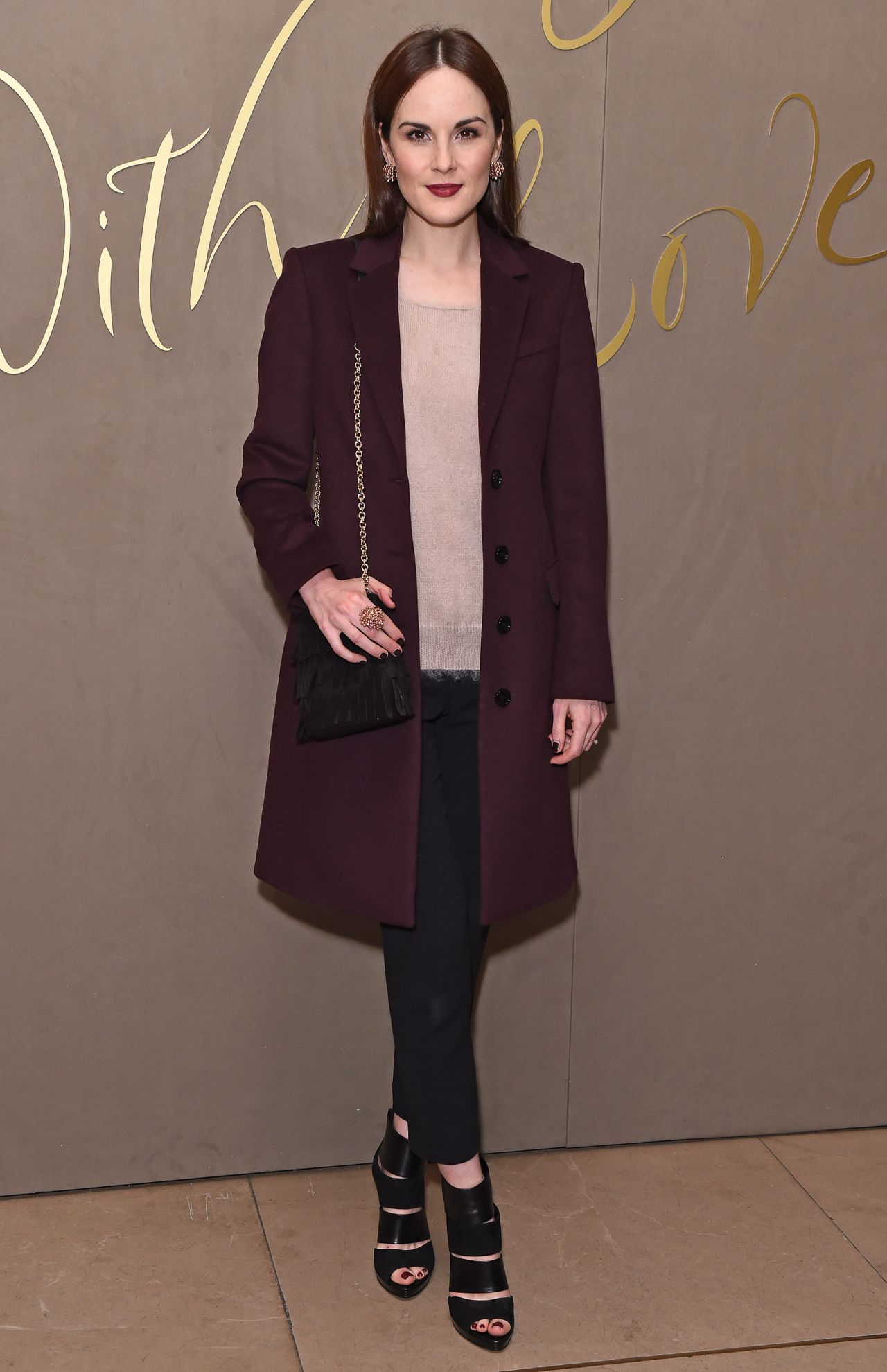 Michelle Dockery Burberry Festive Film Premiere In London