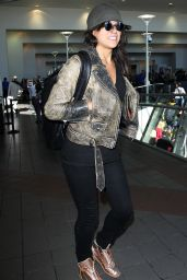 Michelle Rodriguez Airport Style - LAX in LA, November 2015