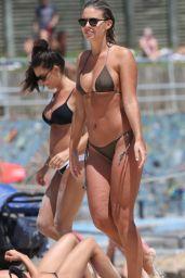 Natasha Oakley in Bikini on the Beach in Sydney, November 2015