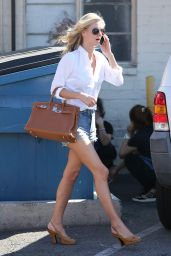 Nicky Hilton in Jeans Shorts - After Some Retail Therapy in Beverly Hills, October 2015