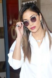 Nicole Scherzinger at BBC Radio 1 in London, November 2015