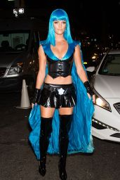 Nina Agdal - Heidi Klum Halloween Party in New York City, October 2015