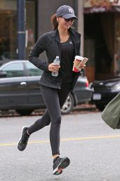 Nina Dobrev - Leaving Yoga Class in Vancouver, November 2015