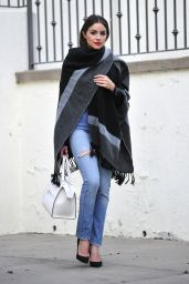 Olivia Culpo Casual Style - Leaving Sunset Plaza in Los Angeles, November 2015