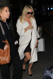 Pamela Anderson Airport Style - Arriving at LAX  in LA, 11/17/2015