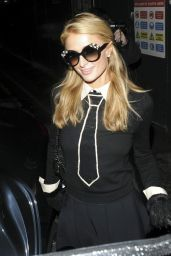 Paris Hilton and Nicky Hilton Night Out Style - Arriving at Sexy Fish Restaurant, November 2015
