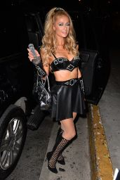Paris Hilton - Goes to Bootsy Bellows Halloween Party, October 2015