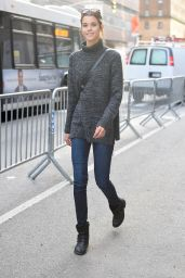 Pauline Hoarau - Wearing a Grey Sweater and Jeans - Victoria